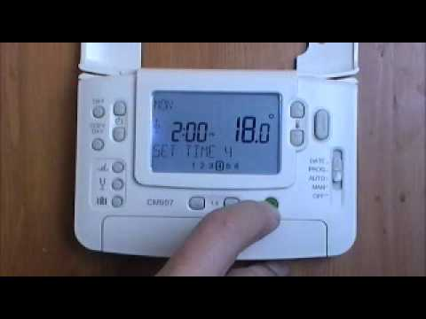 Honeywell CM907 Digital Programmable Room Thermostat user demonstration from AdvantageSW