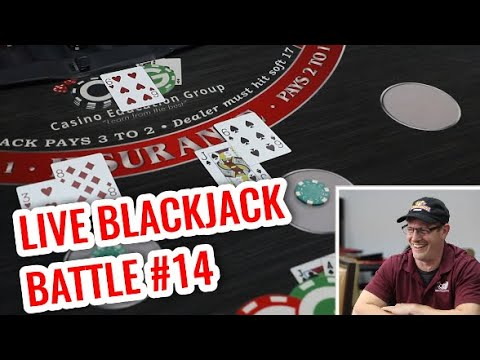 Live Blackjack Battle - David Vs. Timmy #14