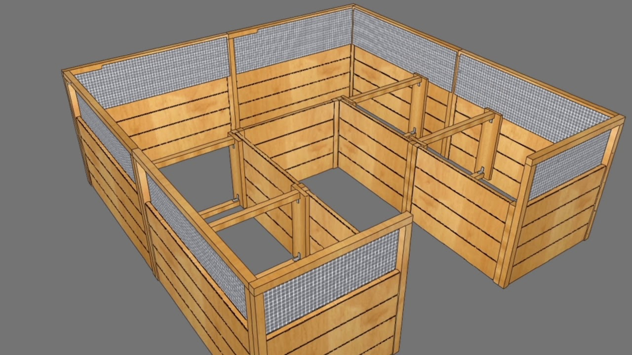 8x8 Garden In A Box With Deer Fence Option Youtube