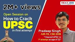 Crack UPSC Civil Services in the first attempt by Pradeep Singh (AIR 93, CSE 2018)