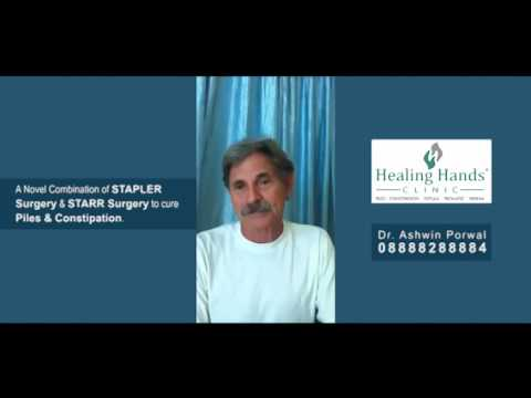 Testimonial by Steve Myro after treatment of Piles and Constipation at Healing Hands Clinic