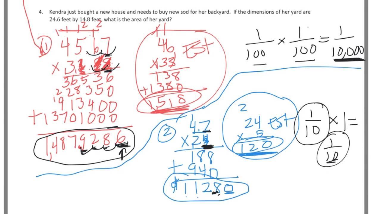6th grade Module 2 Lesson 11 PS