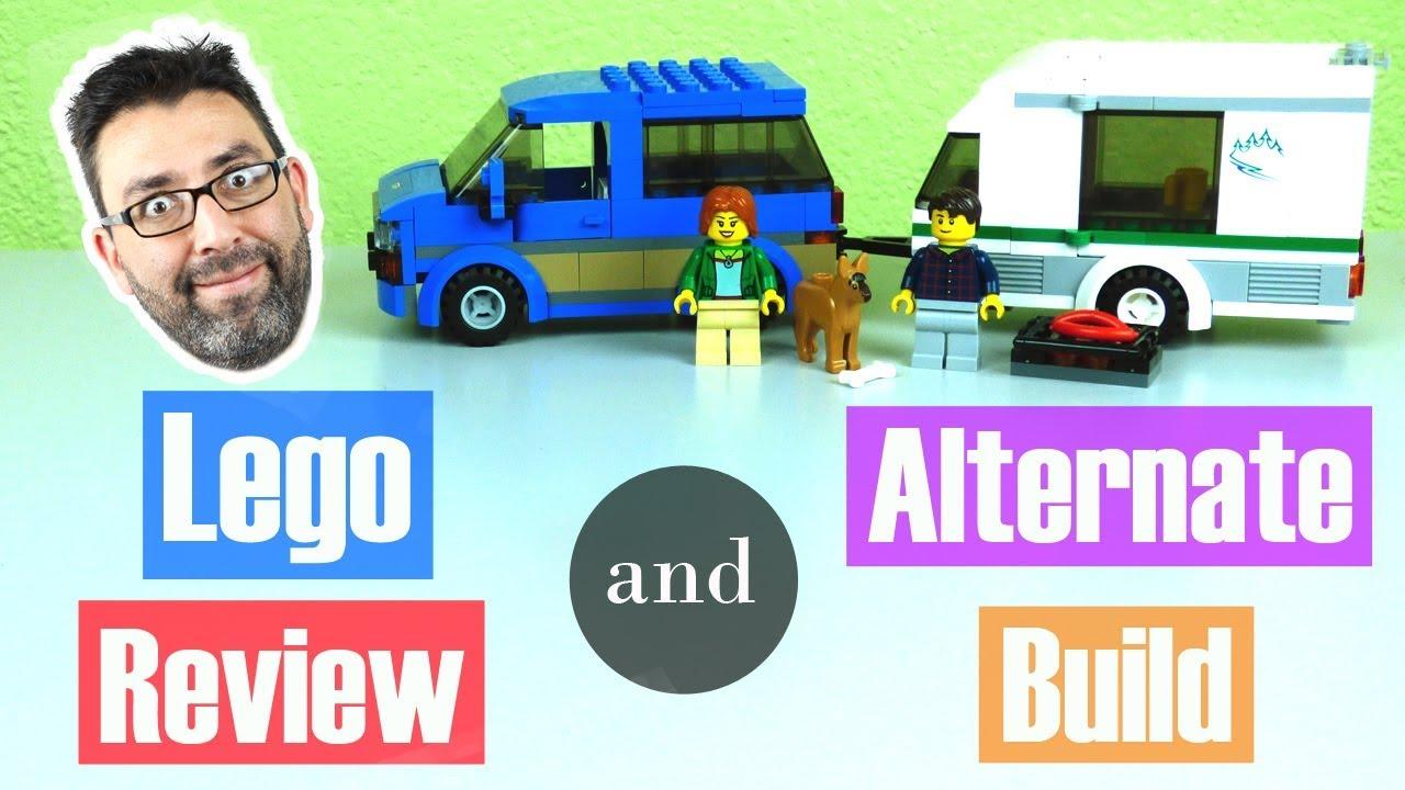 LEGO City Van & Caravan build, review, alternate build | Victor