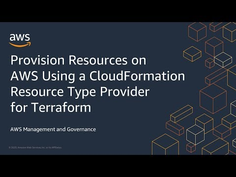 Provision Resources on AWS Using a CloudFormation Resource Type Provider for Terraform