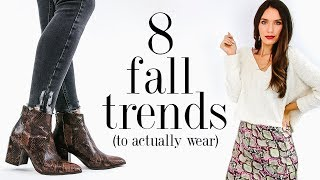 8 Fall FASHION TRENDS To Actually Wear in 2019! Video