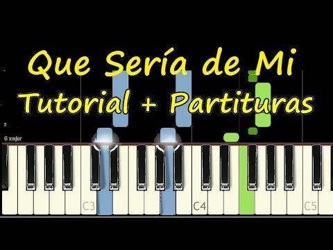 QUE SERIA DE MI Piano Tutorial Cover Facil + Partitura PDF Sheet Music Easy Midi thumbnail