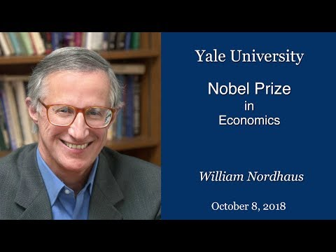 A video of the Yale University press conference recognizing Nobel Prize-winning economist William Nordhaus.