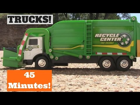 GARBAGE TRUCK Videos For Children l 45 MINUTES of Toys PLAYTIME! l Garbage Trucks Rule