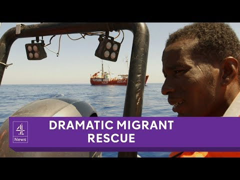Migrants saved in dramatic rescue off Libyan coast