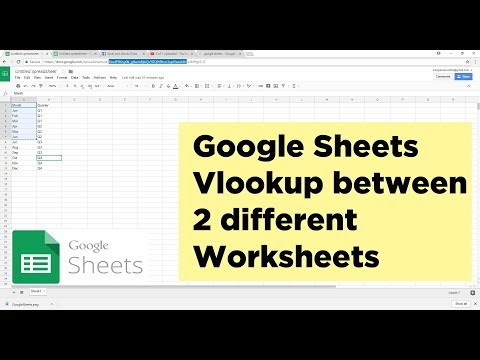 How To Do Vlookup Between 2 Spreadsheets In Google Sheets | Google Sheet Tutorial