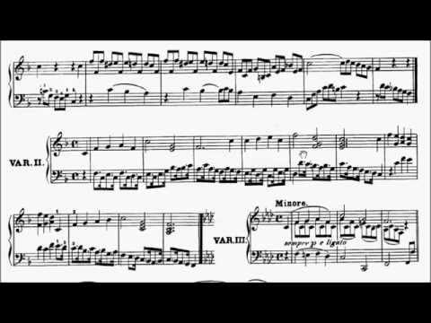 RCM Piano 2015 Grade 8 List B No.2 Beethoven Six Variations On A Swiss Folk Song Woo 64 Sheet Music