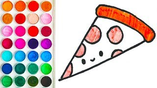How to Draw Pizza, Coloring Books for Kid