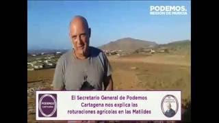 Javier Escarabajal denunciando la degradación del entorno del #MarMenor (1)