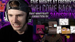 "Vapor Reacts #638 | FNAF MINECRAFT ANIMATION ""Welcome Back"" Music Video by 3A Display REACTION!!"