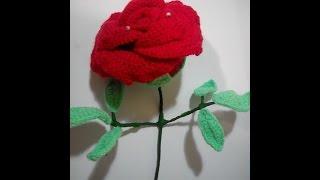 Вязание крючком. Объемная роза. Часть 1.
