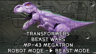 TF BEAST WARS MP-43 MEGATRON TRANSFORM ROBOT to BEAST / MP-4…
