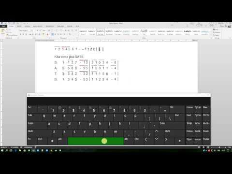 Cara Pengetikan Notasi Angka Dengan Font