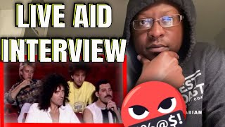 HIP HOP Fan REACTS To Queen-Interview Before Live Aid 1985! HD | QUEEN REACTIONS