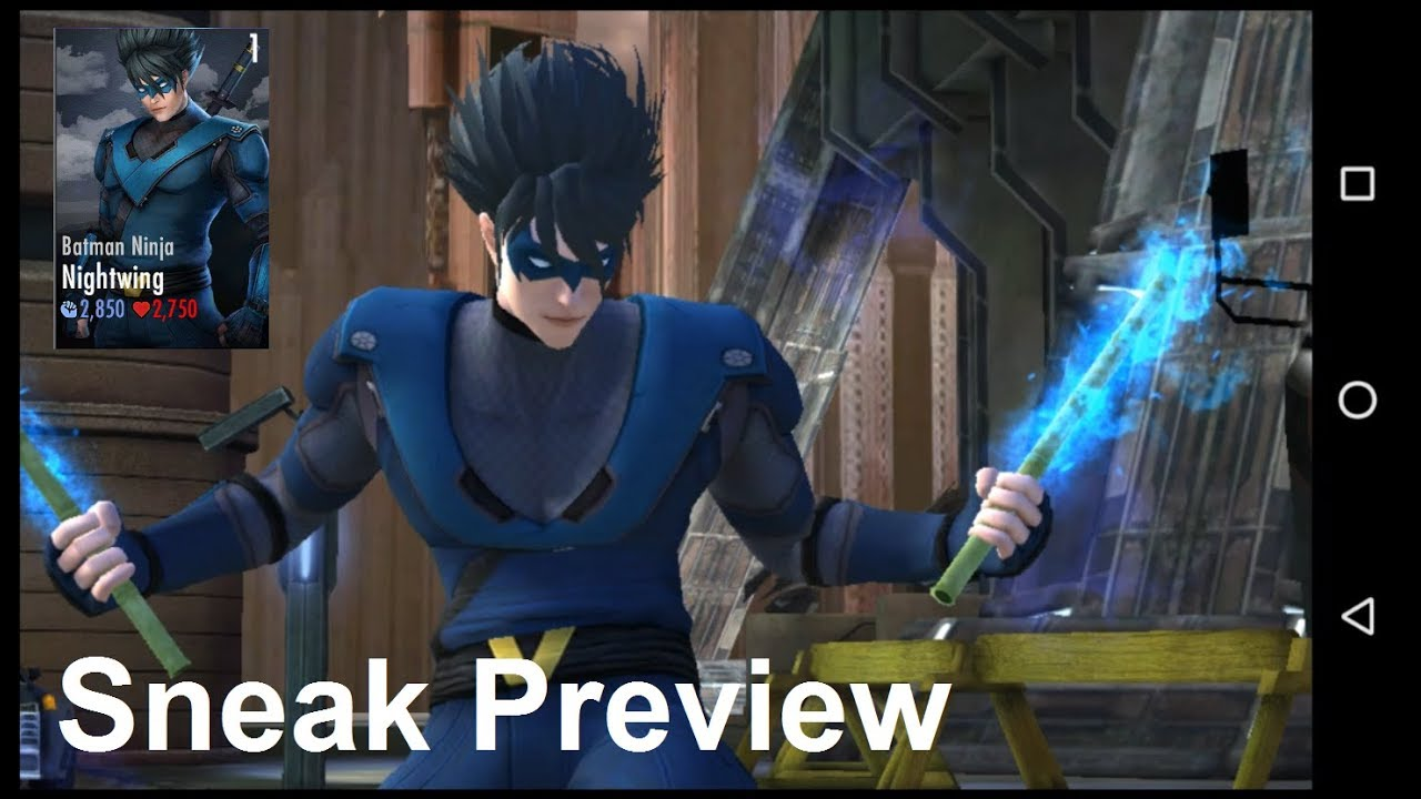 Nightwing S Brandished Ninjato Injustice Gau 3 1 Sneak Preview Youtube