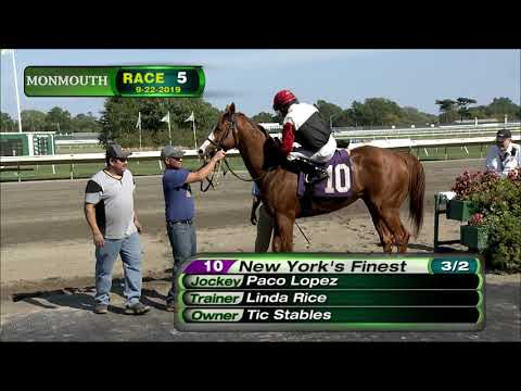 video thumbnail for MONMOUTH PARK 9-22-19 RACE 5