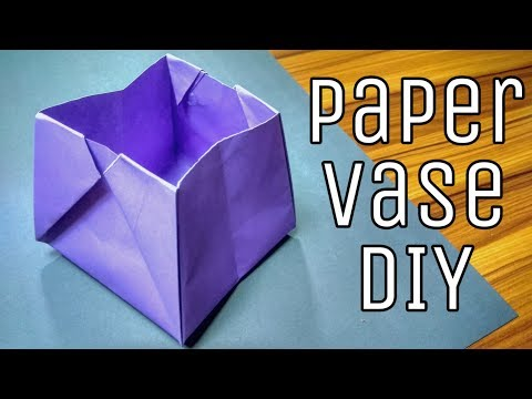 Paper Vase 2 || How to make paper vase