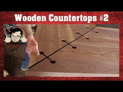 Make your own wooden counter tops PART #2: Cutting BIG miters!