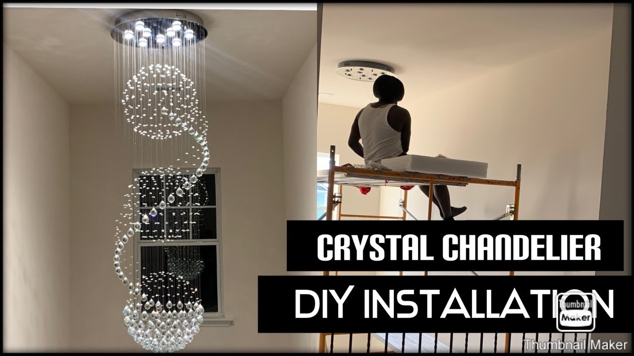Modern Crystal Chandelier Diy, How To Install A Crystal Chandelier