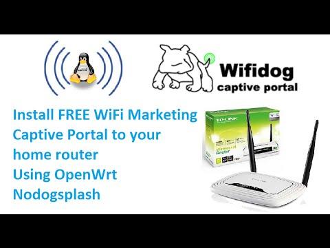 Install Free WiFi Marketing captive portal on tp-link wr841n