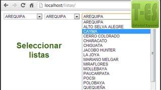 Seleccionar departamentos provincias distritos con PHP y jQuery