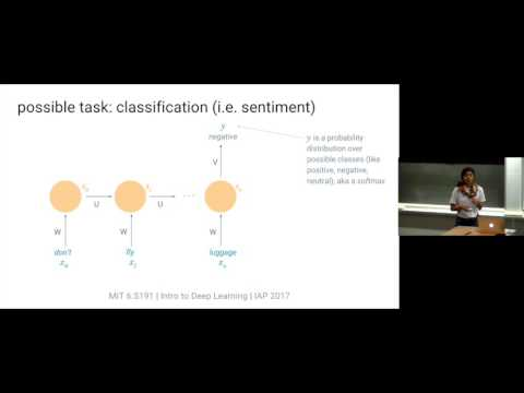 MIT 6.S191 Lecture 2: Sequence Modeling with Neural Networks