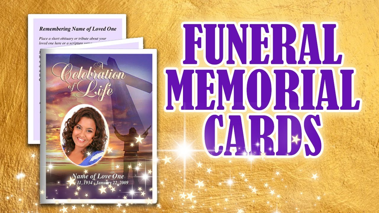 Funeral Memorial Cards   YouTube  Free Funeral Templates For Word