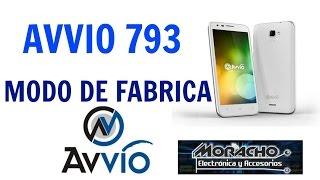 AVVIO 793 Formato general O Modo De Fábrica (por virus y android lento)