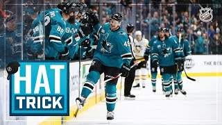 Tomas Hertl tallies second career hat trick, 100th career goal in win