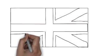 How To Draw Uk Flag