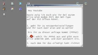 """PS3 und XBOX NAT-Type ÖFFNEN Alice-Wlan (ALLE)  """"GANZ EINFACH"""""""