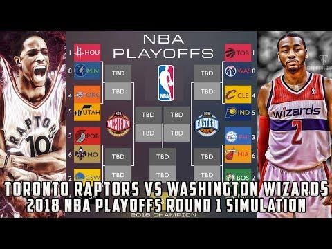 Toronto Raptors vs Washington Wizards! 2018 NBA Playoffs Round 1 Simulation