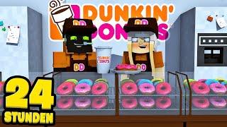 24 STUNDEN bei DUNKIN DONUTS arbeiten?! - Minecraft [Deutsch/HD]