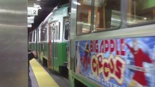 HD 4 Car train on the MBTA Green Line