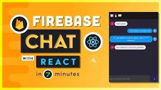 I built a chat app in 7 minutes with React & Firebase