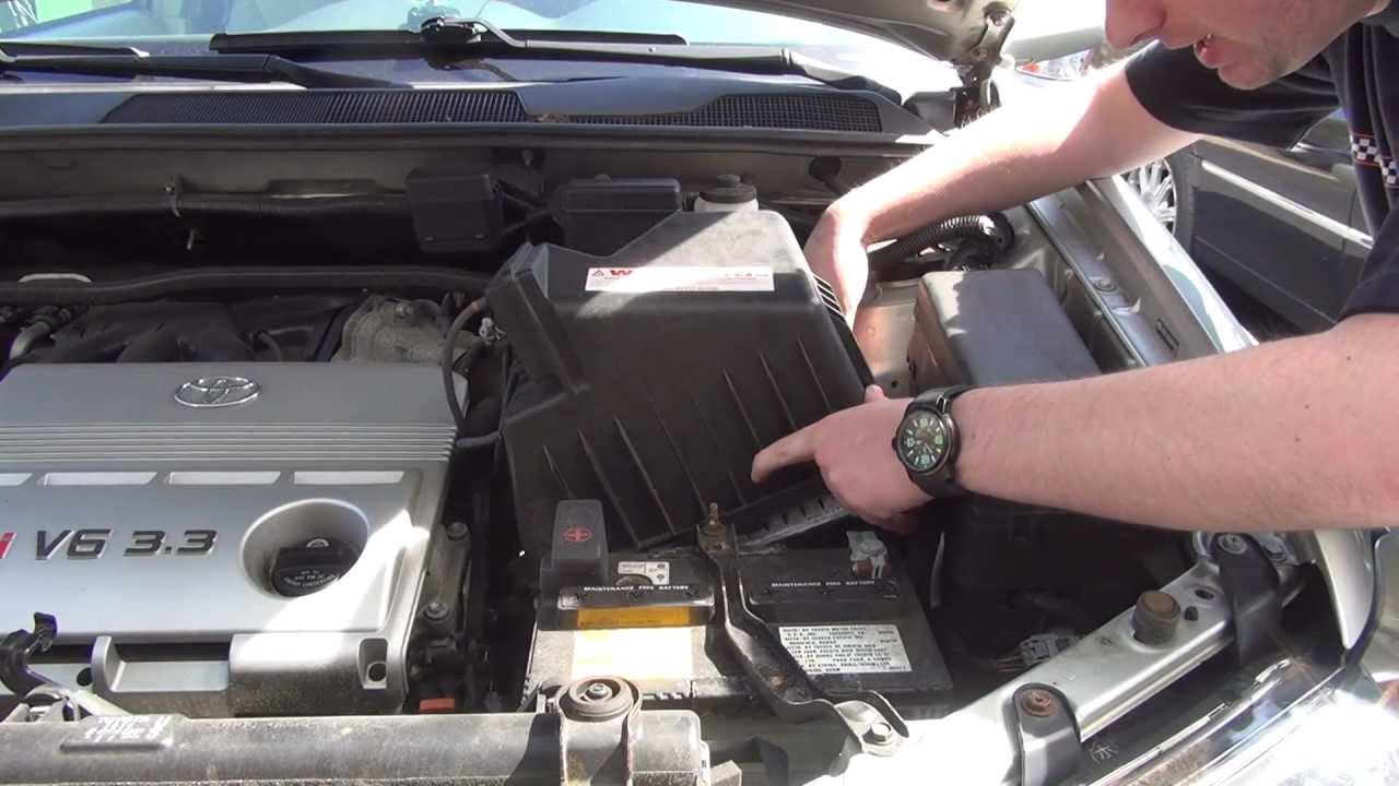 Toyota Highlander Engine Air Intake Filter Check  Replace  YouTube