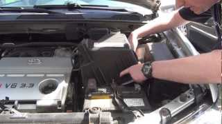Toyota Highlander Engine Air Intake Filter Check / Replace