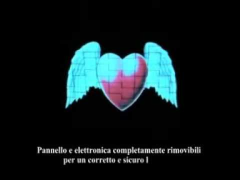 maglietta t-shirt luminosa a ritmo di musica Flying Heart