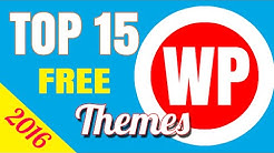 Top 15 Free WordPress Themes in 2016