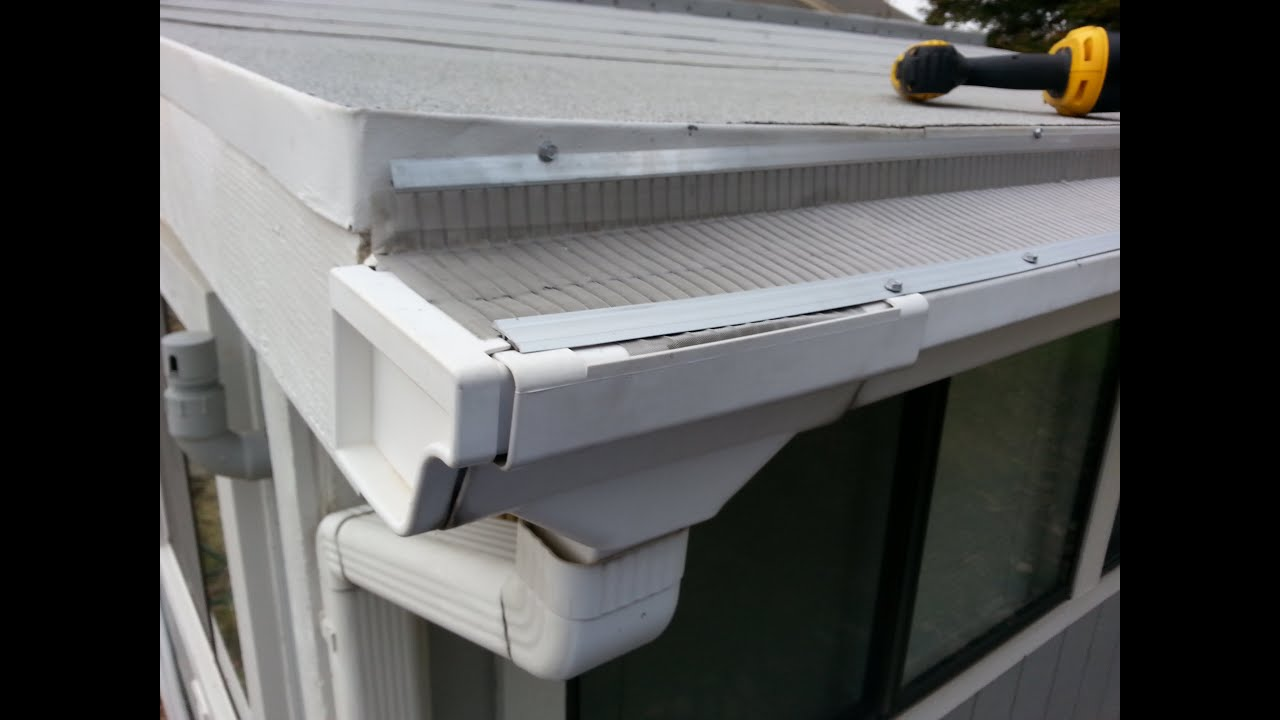 Easyon gutterguard installing on plastic gutters youtube solutioingenieria Image collections