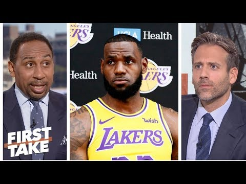 Stephen A. not sold on LeBron being the Lakers closer | First Take | ESPN