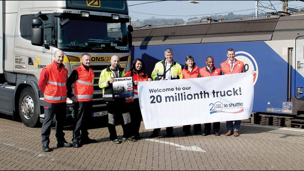 Eurotunnel Le Shuttle Freight Welcomes Its 20 Millionth Truck