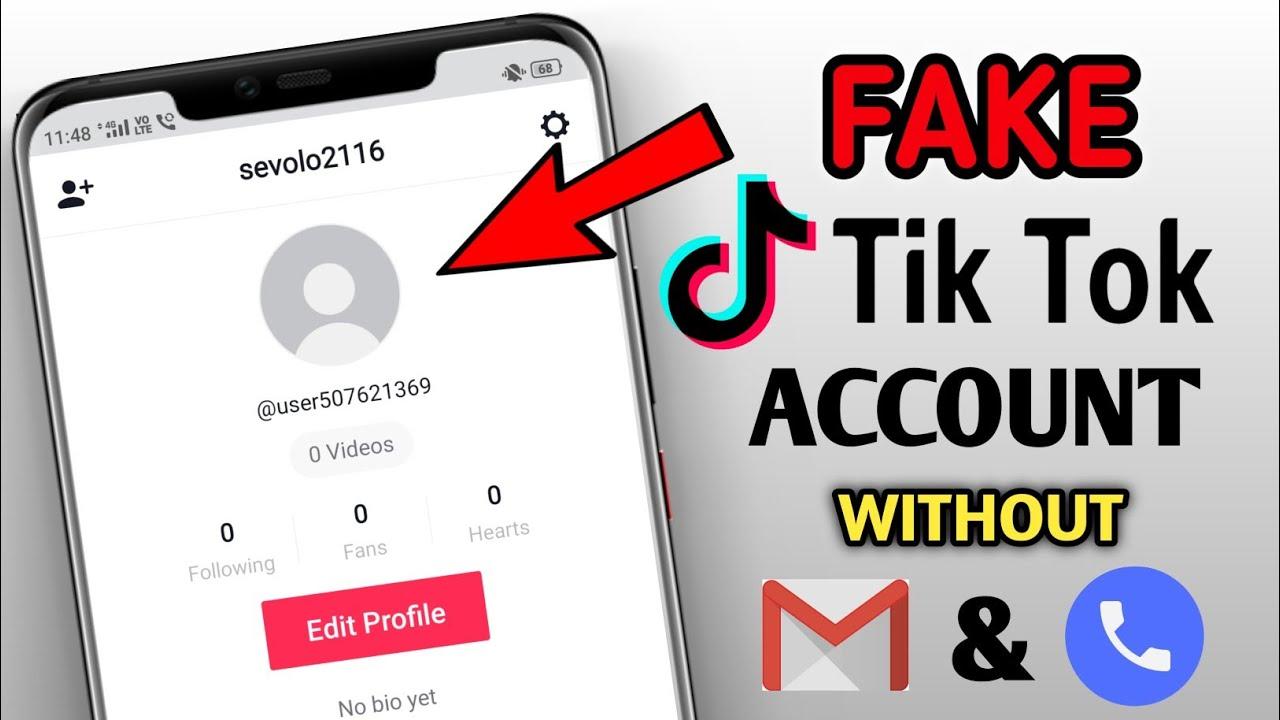 Make Unlimited Free Tiktok Fake Accounts How To Create Fake Account On Tiktok Tiktok Account Youtube