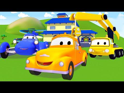 Tom der Abschleppwagen in Car City mit freunde, Das kleine blaue, Kran| Lastwagen Bau-Cartoon-Serie