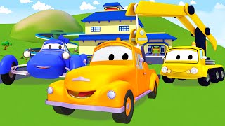 Tom Der Abschleppwagen In Car City Mit Freunde, Das Kleine Blaue, Kran| Lastwagen Bau Cartoon Serie