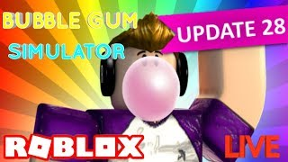 PLAYING BUBBLE GUM SIMULATOR OUR VIP SERVER!! GIVEAWAY! FAMILY FRIENDLY!! ROBLOX LIVE!